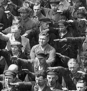 The worker in his refusing posture in 1936.